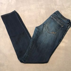 EXPRESS 6 LONG Skinny Low Rise Jeans